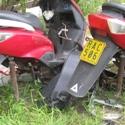 On Aitutaki, Cook Islands, abandoned motorbikes disintegrate.
