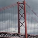 Lisbon, Portugal's, Ponte 25 de Abril bridge