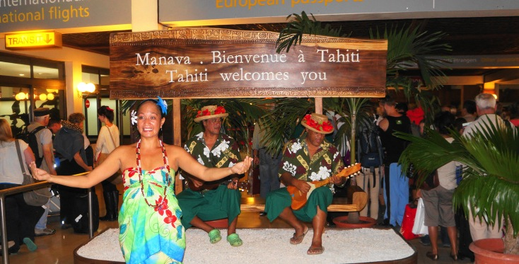 Welcome at Tahiti airport