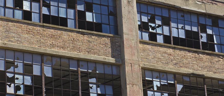 abandoned Detroit automotive factory