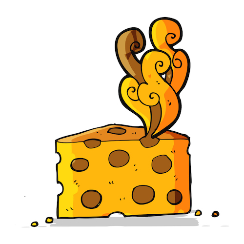 cartoon smelly cheese