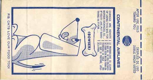Continental airsickness bag
