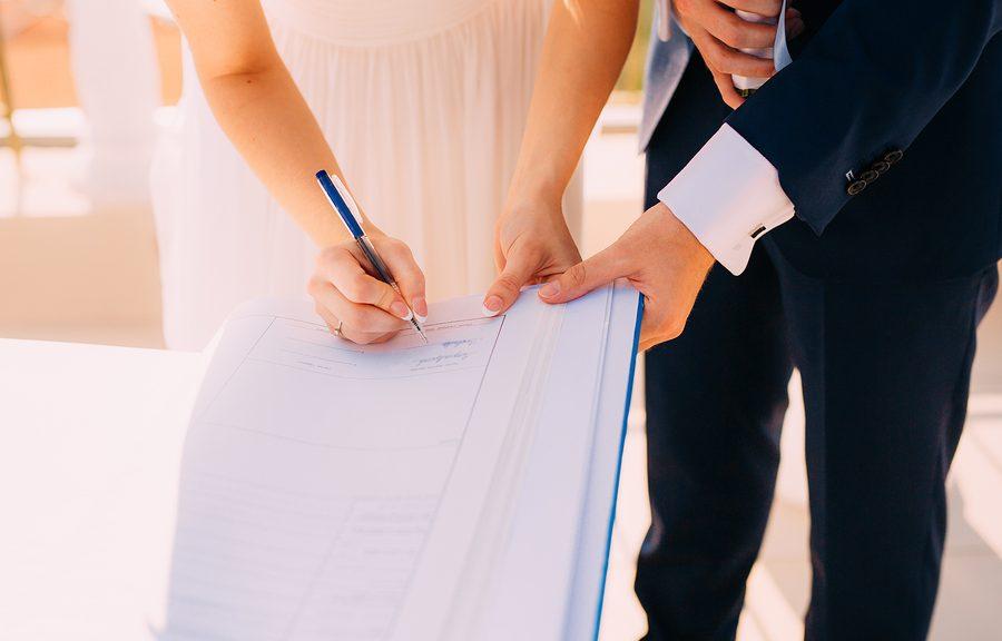 wedding document